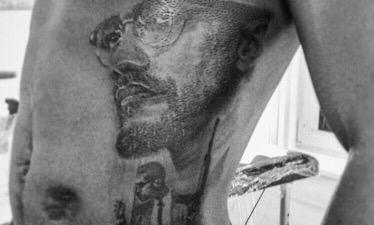 Malcolm x tattoo trenchart portrait portret tatoeage