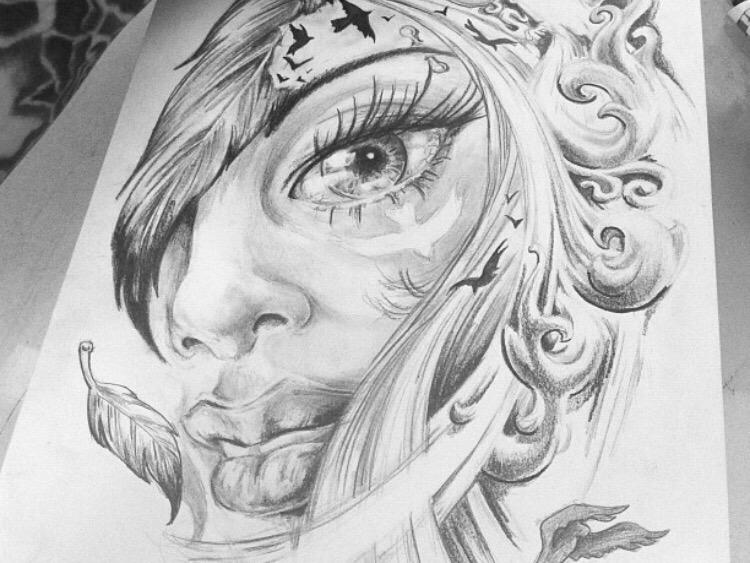 Artwork drawing design tekening ontwerp tattoo silverBack